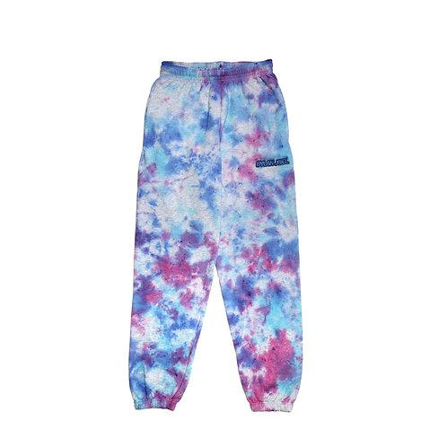 Pink/blue Tie Dye sweatpants