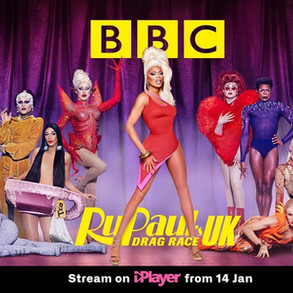 Asttina Mandella wearing Dylan Joel for BBC Drag Race UK official advert