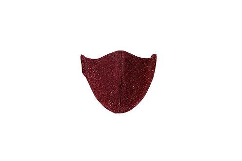 Red shimmer face mask