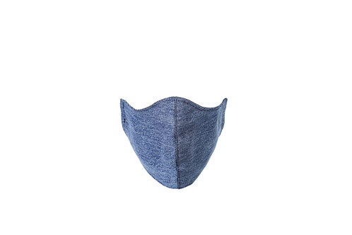 Recycled denim face mask