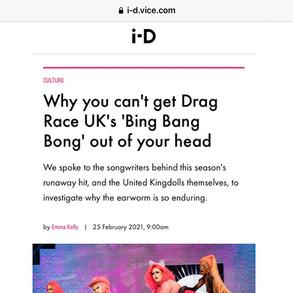 I-D Magazine article: Awhora wearing Dylan Joel on Drag Race UK