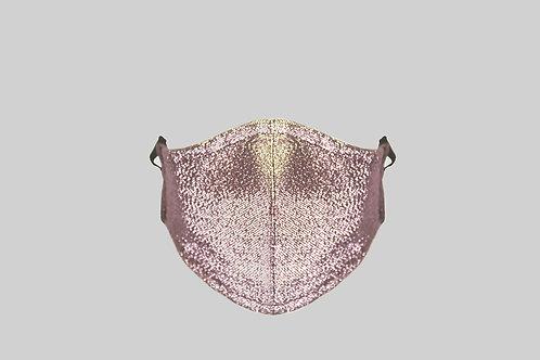 Metallic denim face mask