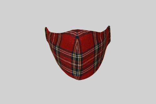 Red stewart tartan face mask