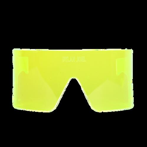 Lime green visor