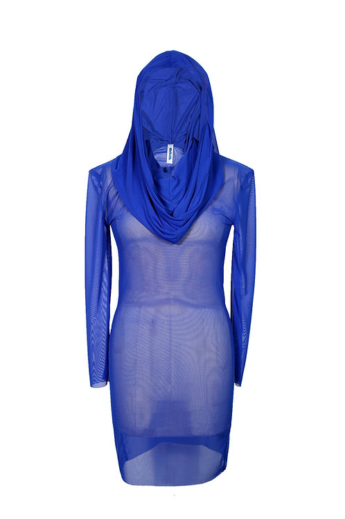 SS20 blue hooded dress