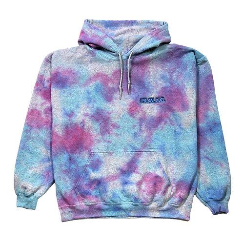 Pink/Blue tie dye hoodie
