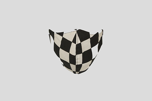 Checkerboard face mask