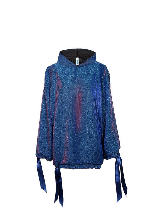 Blue shimmer hoodie