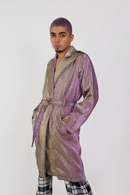 AW19 Metallic trench coat