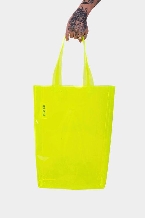 AW18 Lime green tote bag