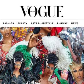 British Vogue article March 2021 of Tayce wearing custom Dylan Joel