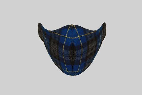 Blue tartan face mask