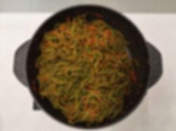 spaghetti spirulina padella