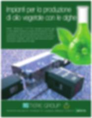 Impianti per la produzione di olio vegetale con le alghe