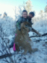 Ben & Taylor after a successful mountain lion hunt