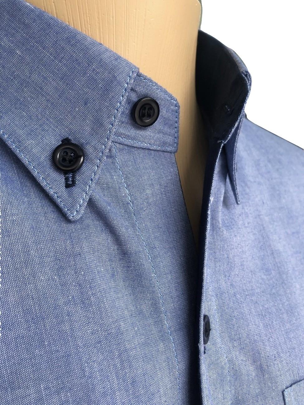 camisa az. jeans no detalhe