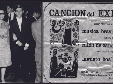 """1974: """"Canción del Exílio"""" e minha mãe."""