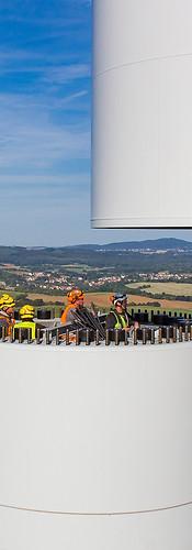 Industriefotografie-Bau einer Windkraftanlage