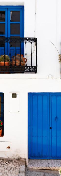 Reisefotografie-Blau/Weiß