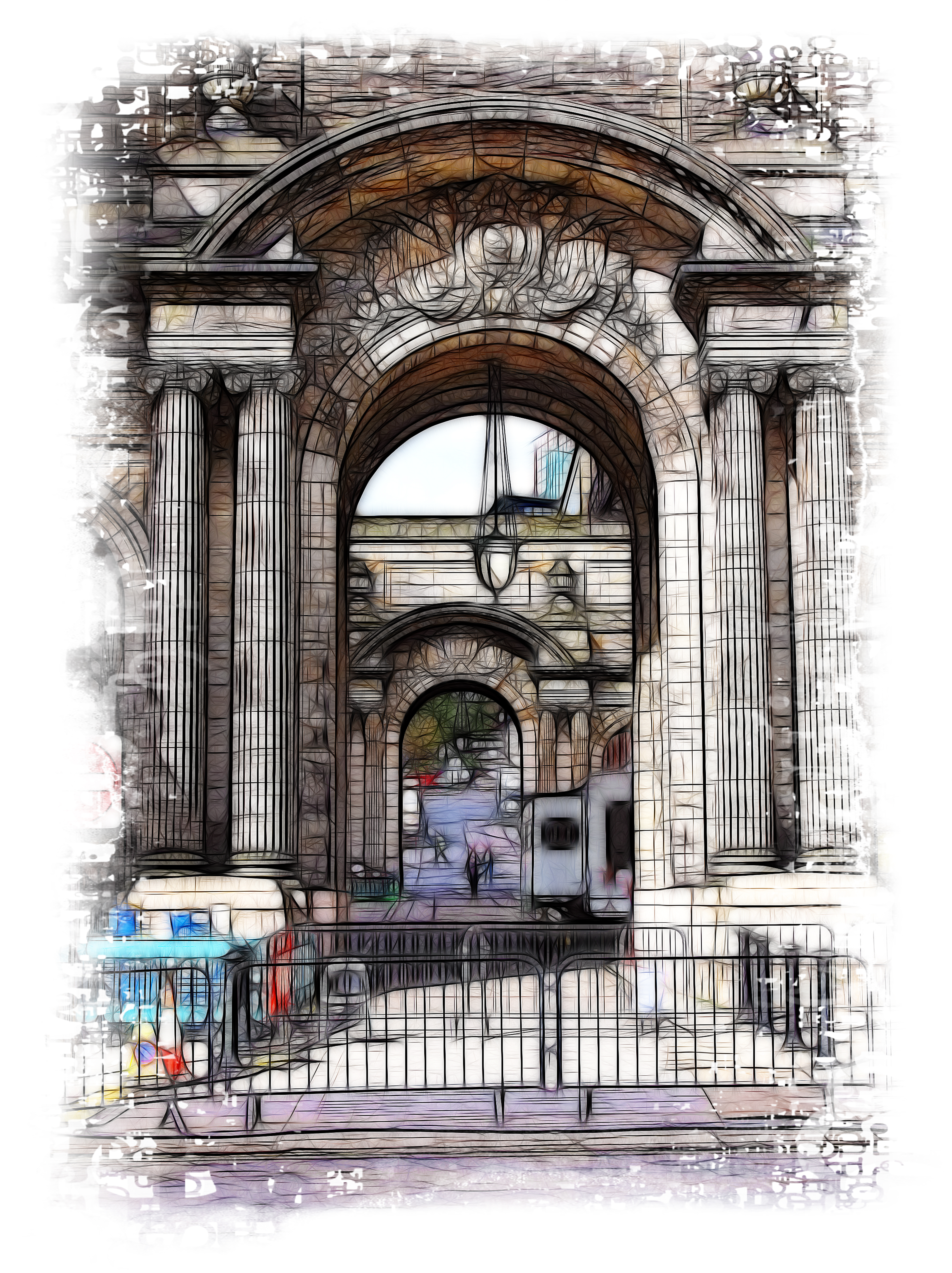 Arches of Glasgow City Chambers AM3