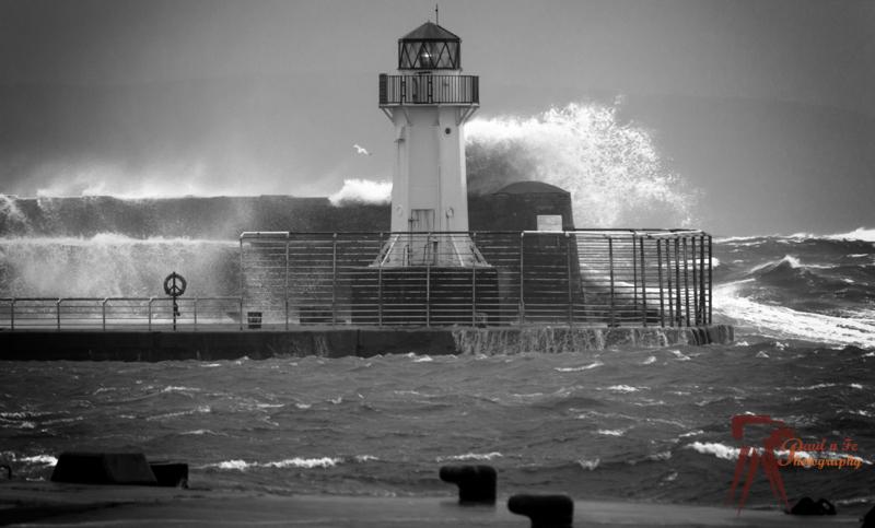 Ardrossan Lighthouse Storm  SS37