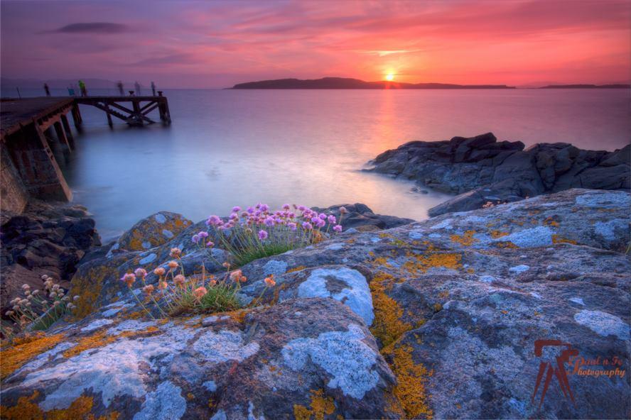 Red Portencross Sunset  S93