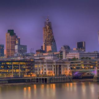 Purple London Sunset