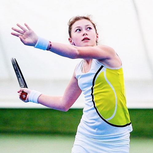 Майка с теннисным мячом