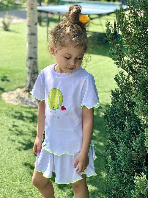 """Теннисный костюм для девочки """"I love tennis"""""""