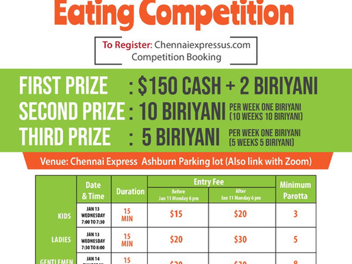 Parotta Eating Competition -2021