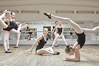 Young Ballerinas During Pracitce