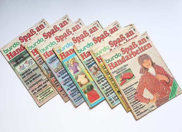 שבעה גליונות בורדה בגרמנית משנות השבעים
