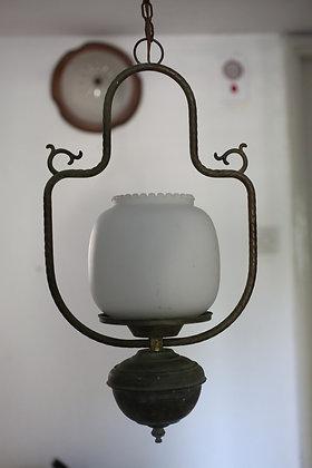 מנורת תלייה זכוכית מורנו במסגרת עתיקה