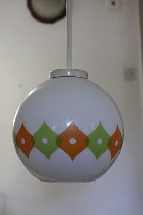 מנורת תלייה עיטור כתום ירוק