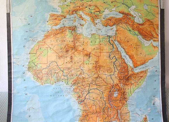 מפת ענק של אפריקה