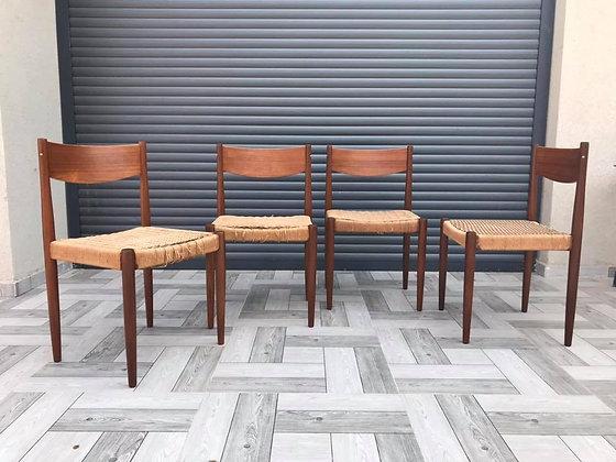 שישה כסאות דניש יפהפיים, המחיר לאחד.