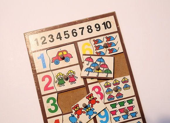 משחק פאזל מספרים לפעוטות