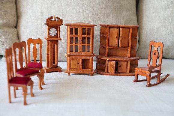 סט רהיטי משחק מיניאטוריים מעץ