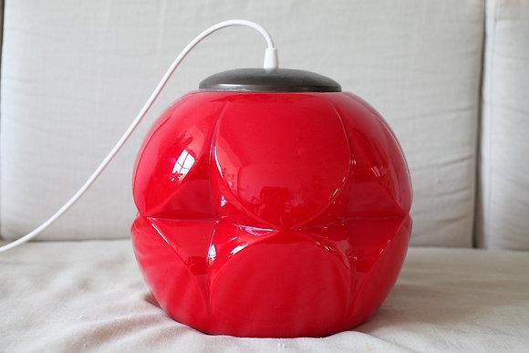 אהיל וינטג' זכוכית פיל ופוצלר צבע אדום