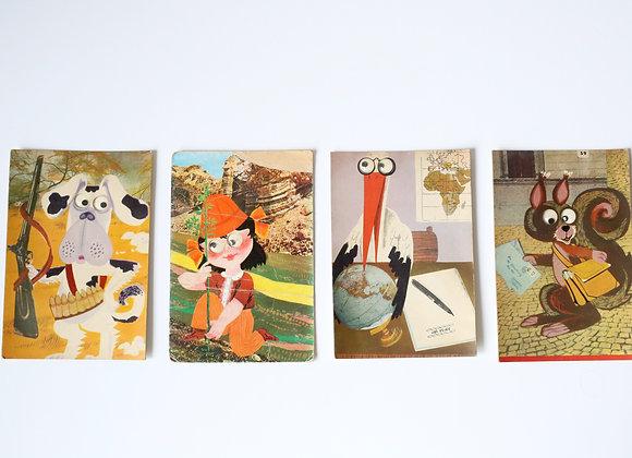 """ארבע גלויות """"עיניים"""" של דן"""