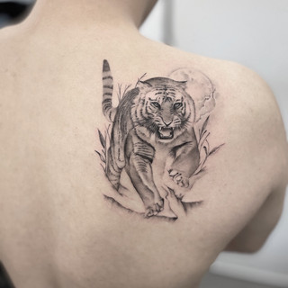 back tiger tattoo