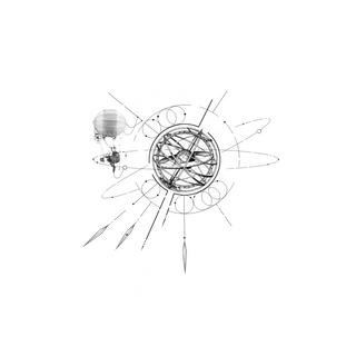 compass line tattoo design