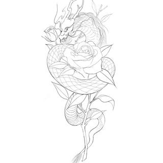 dragon tattoo design 2