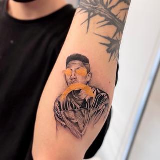 Galant portrait tattoo
