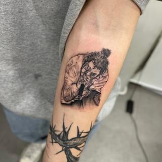 Postmalon protrait tattoo