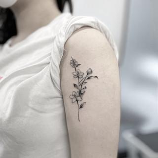 apple flower tattoo