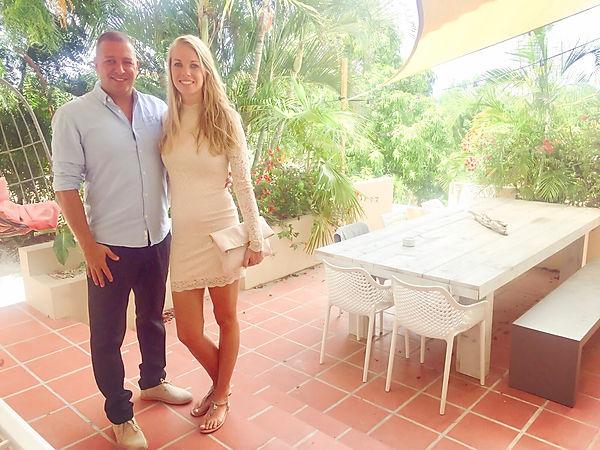 Jessica de Bruijn en Walter van Gulik bij beleef Curaçao appartementen
