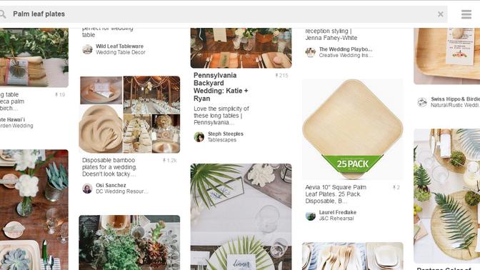 Palm-Leaf plates on Pinterest