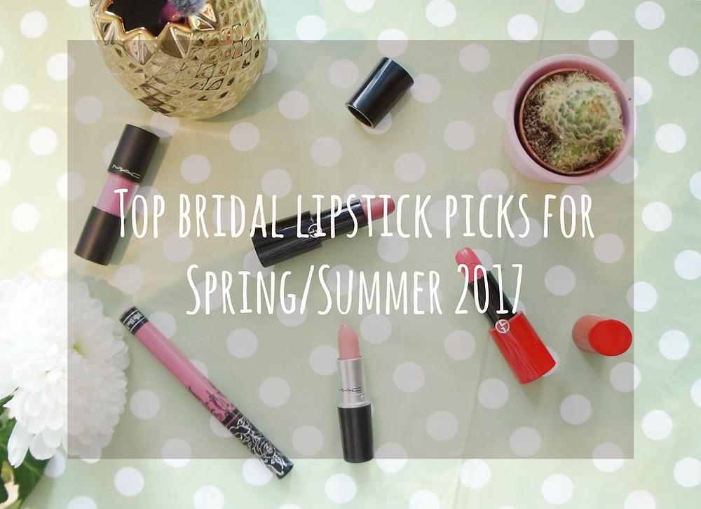 bridal lipsticks picks for spring summer 2017