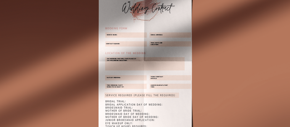 Why you need efficient booking forms as a makeup artist